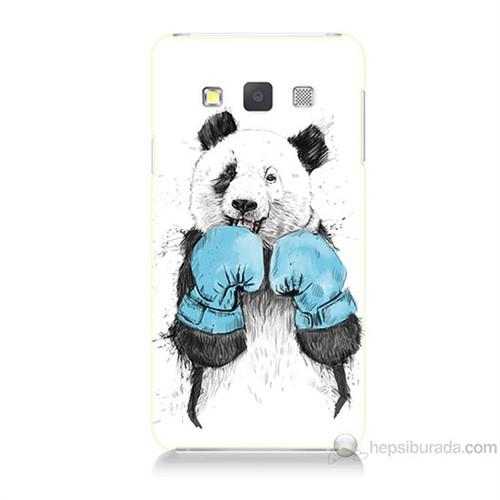 Teknomeg Samsung Galaxy A5 Boksör Panda Baskılı Silikon Kılıf