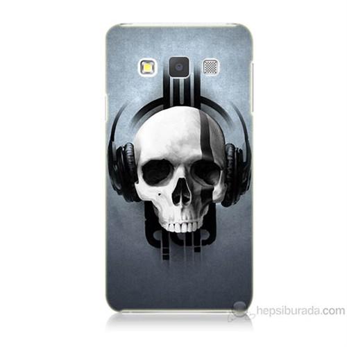 Teknomeg Samsung Galaxy A5 Müzik Dinleyen Kurukafa Baskılı Silikon Kılıf