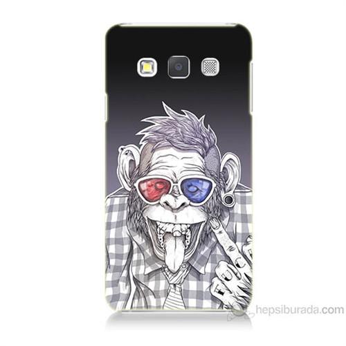 Teknomeg Samsung Galaxy A7 Maymun Baskılı Silikon Kılıf