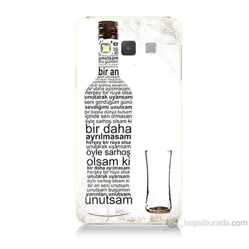 Teknomeg Samsung Galaxy A7 Rakı Şişesi Baskılı Silikon Kılıf