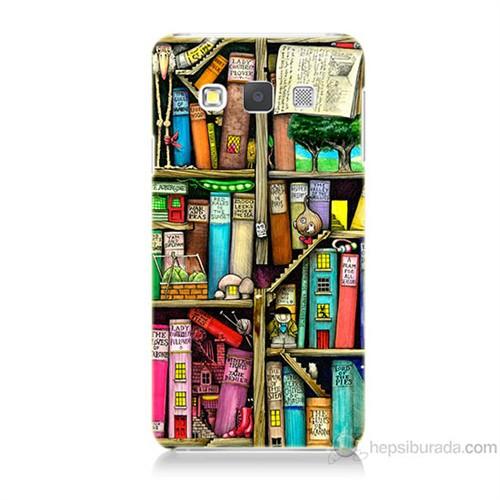 Teknomeg Samsung Galaxy A7 Kitaplık Baskılı Silikon Kılıf