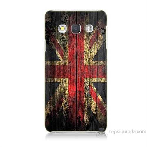 Teknomeg Samsung Galaxy A7 İngiliz Bayrağı Baskılı Silikon Kılıf