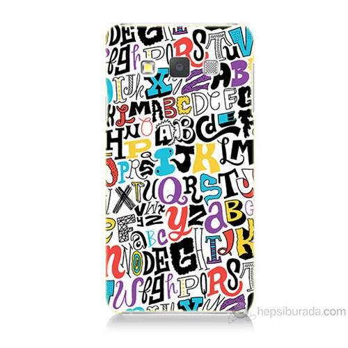 Teknomeg Samsung Galaxy A7 Renkli Harfler Baskılı Silikon Kılıf