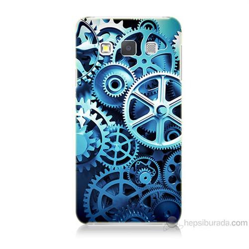 Teknomeg Samsung Galaxy A7 Çarklar Baskılı Silikon Kılıf