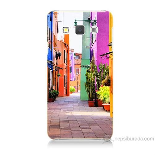 Teknomeg Samsung Galaxy A7 Sokak Baskılı Silikon Kılıf