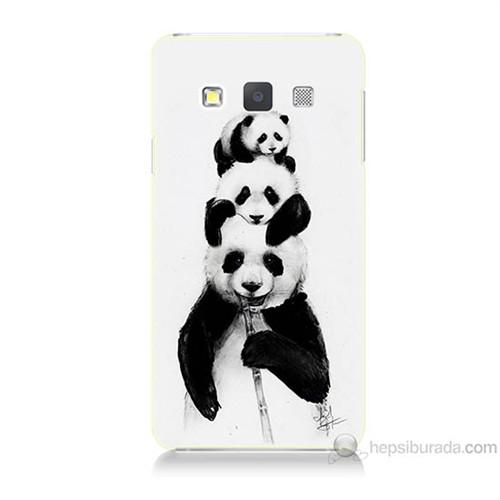 Teknomeg Samsung Galaxy A7 Panda Ailesi Baskılı Silikon Kılıf