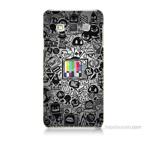 Teknomeg Samsung Galaxy A7 Renkli Tv Baskılı Silikon Kılıf