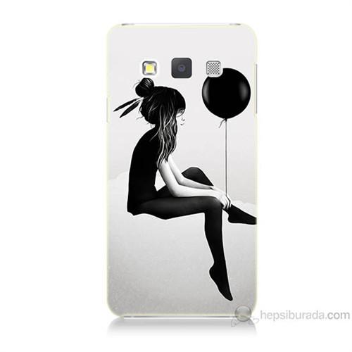 Teknomeg Samsung Galaxy A7 Balonlu Kız Baskılı Silikon Kılıf