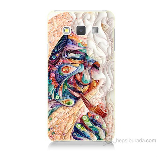Teknomeg Samsung Galaxy A7 Kağıt Sanatı Baskılı Silikon Kılıf