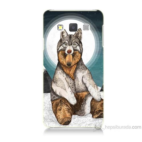 Teknomeg Samsung Galaxy A7 Postlu Ayı Baskılı Silikon Kılıf