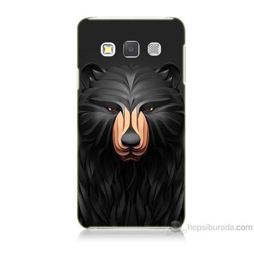 Teknomeg Samsung Galaxy A7 Boz Ayı Baskılı Silikon Kılıf