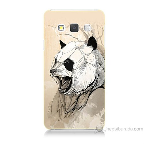 Teknomeg Samsung Galaxy A7 Kavgacı Panda Baskılı Silikon Kılıf