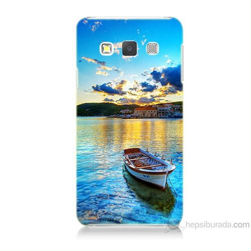 Teknomeg Samsung Galaxy A7 Gün Batımında Deniz Baskılı Silikon Kılıf