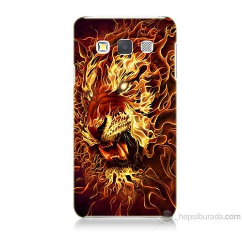 Teknomeg Samsung Galaxy A7 Ateşli Aslan Baskılı Silikon Kılıf