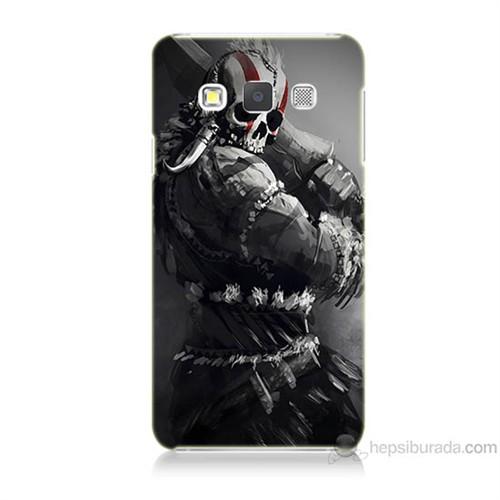 Teknomeg Samsung Galaxy A7 Tribal Warrior Baskılı Silikon Kılıf