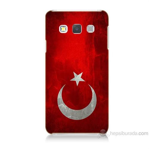 Teknomeg Samsung Galaxy A7 Türkiye Bayrağı Baskılı Silikon Kılıf