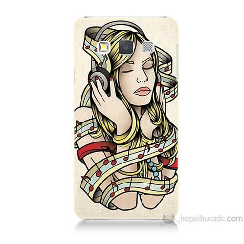 Teknomeg Samsung Galaxy A7 Müzik Aşkı Baskılı Silikon Kılıf