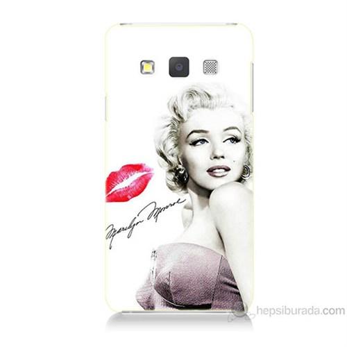 Teknomeg Samsung Galaxy A7 Marilyn Monroe Baskılı Silikon Kılıf