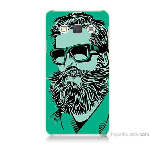 Teknomeg Samsung Galaxy A7 Beard Art Baskılı Silikon Kılıf
