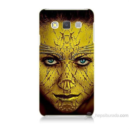 Teknomeg Samsung Galaxy A7 Sarı Kız Baskılı Silikon Kılıf