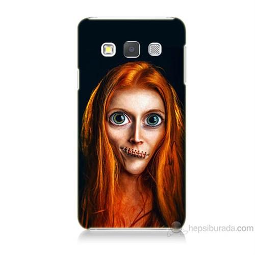 Teknomeg Samsung Galaxy A7 Zombie Kız Baskılı Silikon Kılıf