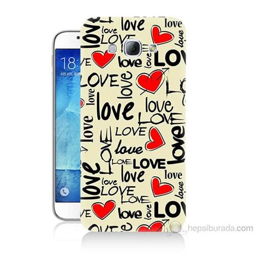Teknomeg Samsung Galaxy A8 Love Baskılı Silikon Kılıf