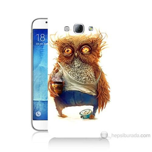 Teknomeg Samsung Galaxy A8 Miskin Baykuş Baskılı Silikon Kılıf