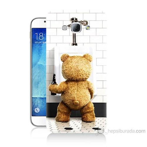 Teknomeg Samsung Galaxy A8 Tedy Bear Baskılı Silikon Kılıf