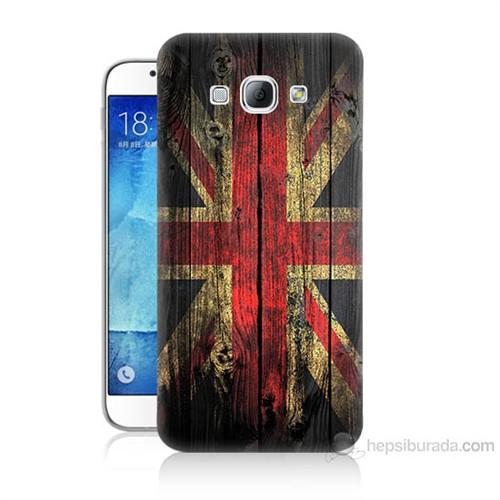 Teknomeg Samsung Galaxy A8 İngiliz Bayrağı Baskılı Silikon Kılıf