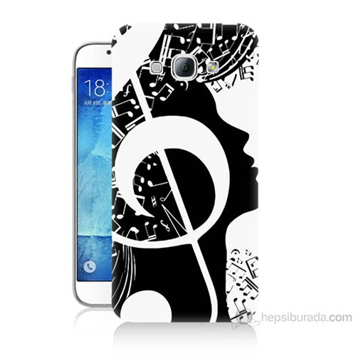 Teknomeg Samsung Galaxy A8 Notalar Baskılı Silikon Kılıf