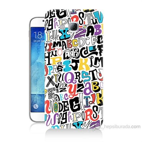 Teknomeg Samsung Galaxy A8 Renkli Harfler Baskılı Silikon Kılıf