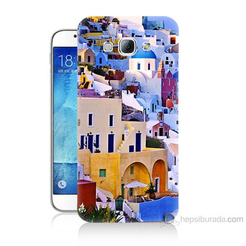Teknomeg Samsung Galaxy A8 İbiza Baskılı Silikon Kılıf