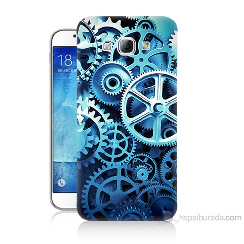 Teknomeg Samsung Galaxy A8 Çarklar Baskılı Silikon Kılıf