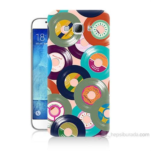 Teknomeg Samsung Galaxy A8 Renkli Plaklar Baskılı Silikon Kılıf