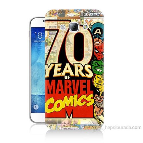 Teknomeg Samsung Galaxy A8 Marvel Karakterleri Baskılı Silikon Kılıf