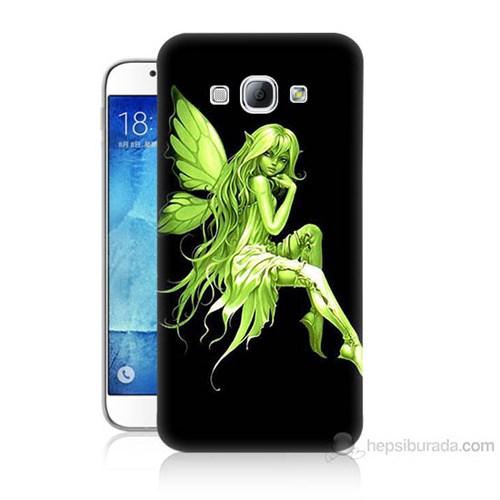 Teknomeg Samsung Galaxy A8 Peri Kızı Baskılı Silikon Kılıf