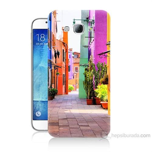 Teknomeg Samsung Galaxy A8 Sokak Baskılı Silikon Kılıf
