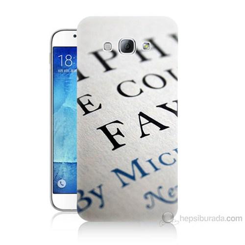 Teknomeg Samsung Galaxy A8 Yazılar Baskılı Silikon Kılıf