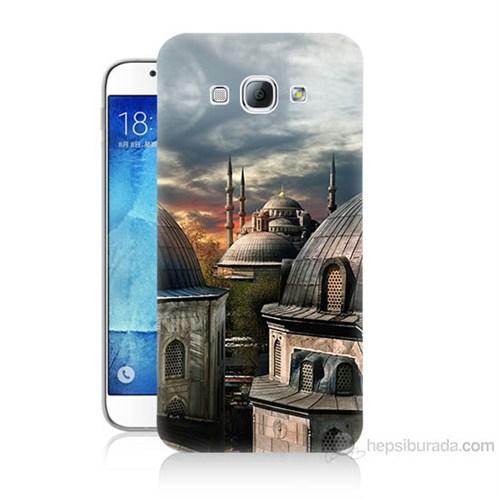 Teknomeg Samsung Galaxy A8 Cami Baskılı Silikon Kılıf