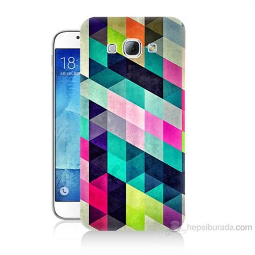 Teknomeg Samsung Galaxy A8 Mozaikler Baskılı Silikon Kılıf