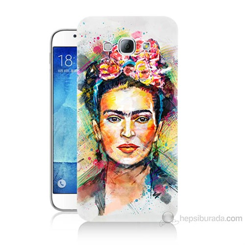 Teknomeg Samsung Galaxy A8 Frida Baskılı Silikon Kılıf
