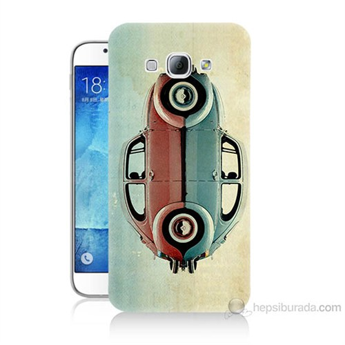 Teknomeg Samsung Galaxy A8 Mavi Kırmızı Wolkswagen Baskılı Silikon Kılıf