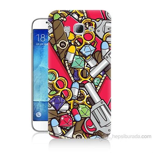 Teknomeg Samsung Galaxy A8 Cephane Baskılı Silikon Kılıf