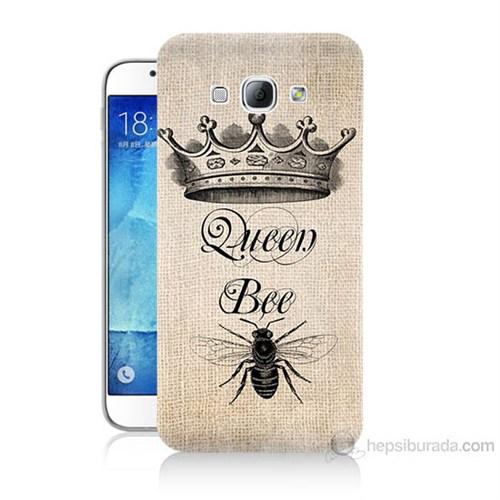 Teknomeg Samsung Galaxy A8 Queen Bee Baskılı Silikon Kılıf