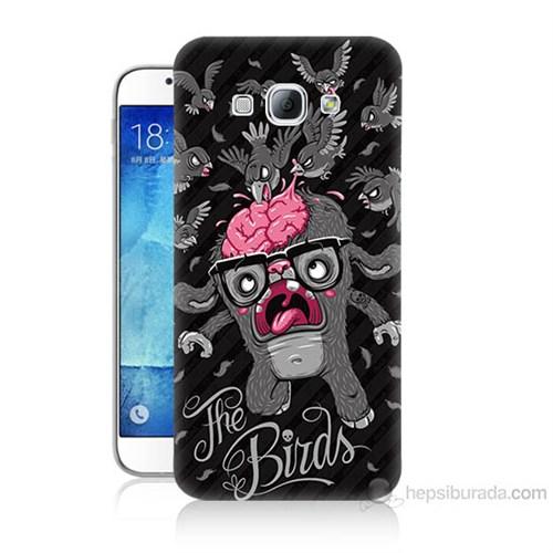 Teknomeg Samsung Galaxy A8 The Birds Baskılı Silikon Kılıf