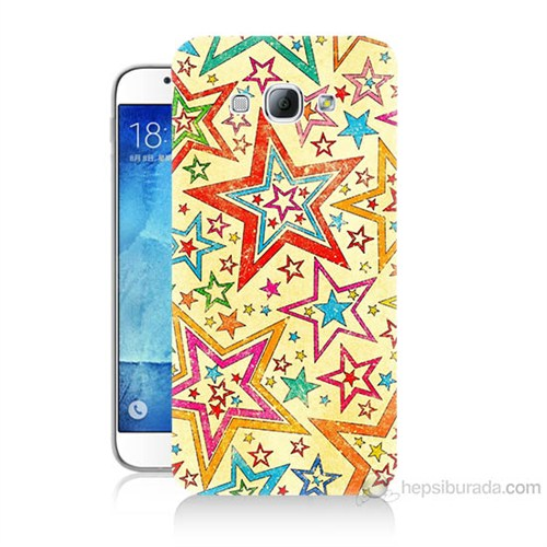 Teknomeg Samsung Galaxy A8 Yıldızlar Baskılı Silikon Kılıf