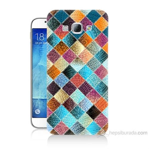 Teknomeg Samsung Galaxy A8 Kırkyama Baskılı Silikon Kılıf