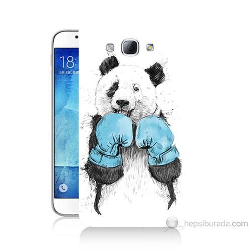 Teknomeg Samsung Galaxy A8 Boksör Panda Baskılı Silikon Kılıf