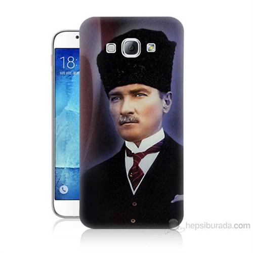 Teknomeg Samsung Galaxy A8 Mustafa Kemal Atatürk Baskılı Silikon Kılıf