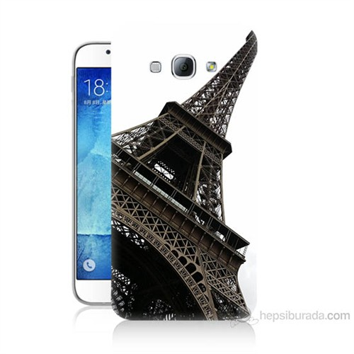 Teknomeg Samsung Galaxy A8 Eyfel Kulesi Baskılı Silikon Kılıf
